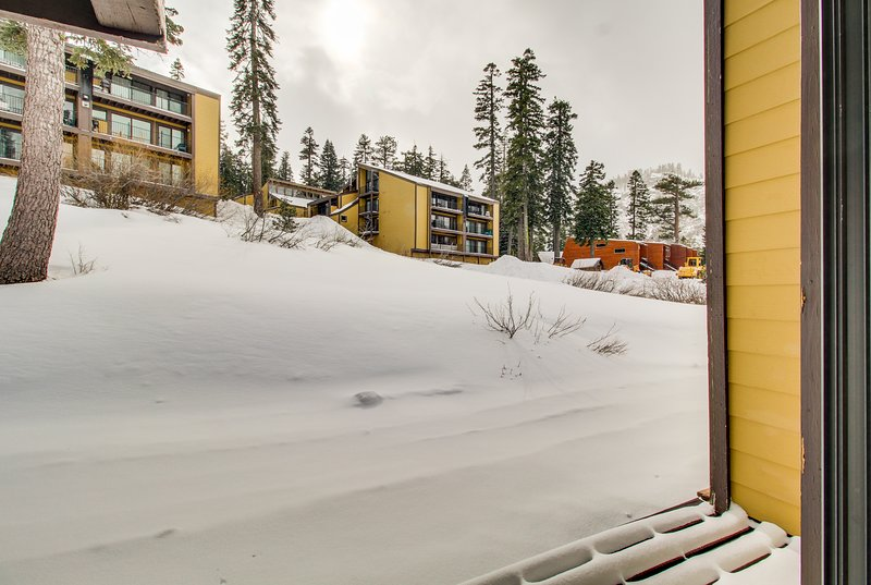 Photo of Lovely condo w/ deck, mountain views, & wood stove - 1/2 mile to lifts