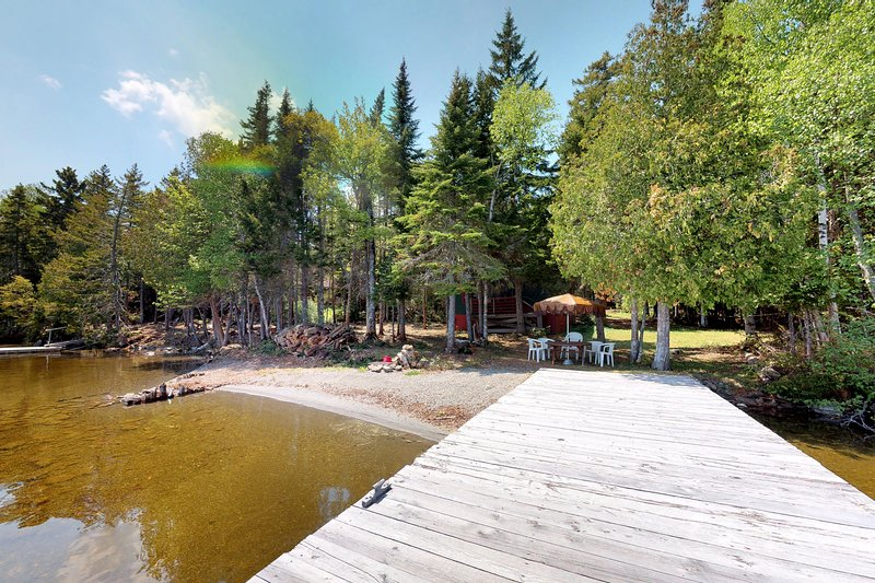 Quiet, dog-friendly, waterfront getaway w/ private beach, dock, & firepit, vacation rental in Jackman