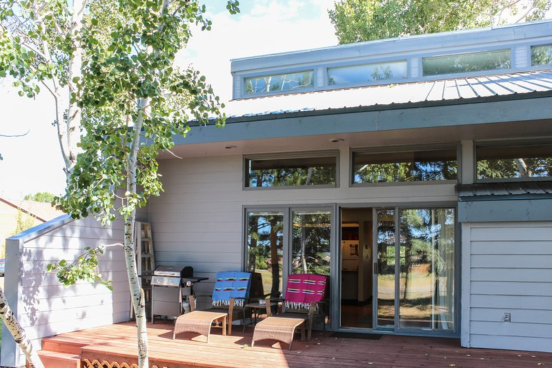 Two-level condo w/patio, near golf & hot springs - dog welcome, holiday rental in Pagosa Springs