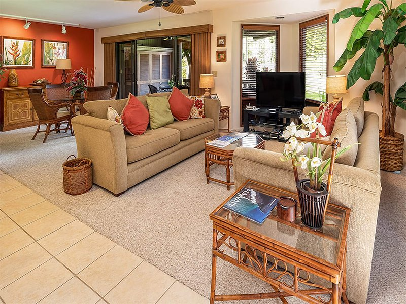 Golfers Fave! Lanai+Wet Bar, Kitchen, AC, WiFi, Flat Screen+Laundry–Kanaloa at, alquiler de vacaciones en Keauhou