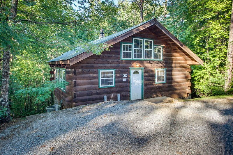 Secluded, dog-friendly cabin - screened-in deck w/ hot tub plus in-room Jacuzzi, vacation rental in Sautee Nacoochee