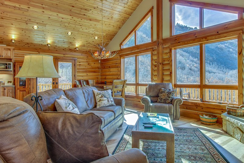 Brand new cabin w/ lovely lake & mtn views - close to town, hiking, & more!, vacation rental in Durango