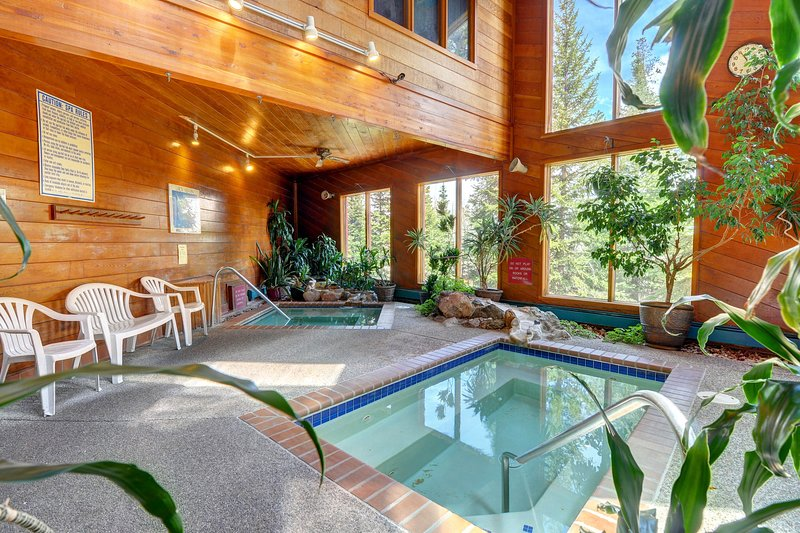 Modern mountain escape with shared pool, sauna, hot tub, and rec center access, vacation rental in Wildernest