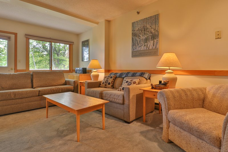 Dog-friendly, slopeside condo w/ access to skiing, shared pool, and hot tub!, vacation rental in Newry