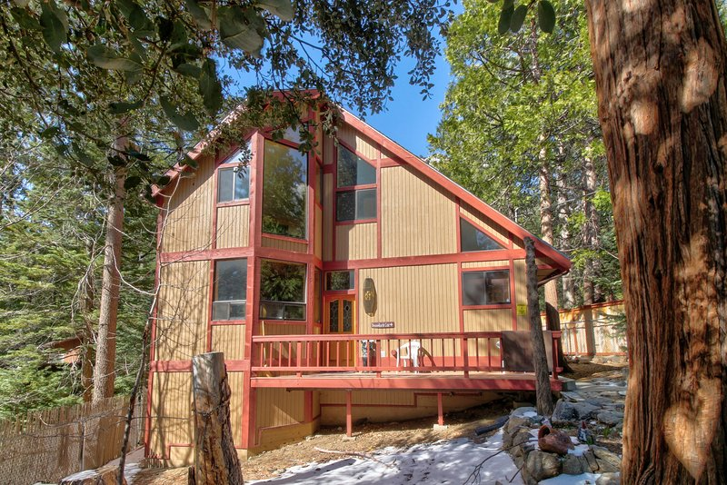 Spacious, dog-friendly cabin w/ private hot tub plus creek & mountain views, holiday rental in Idyllwild