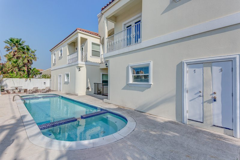 Dog-friendly condo w/ shared pool - one block from the beach, vacation rental in Port Isabel