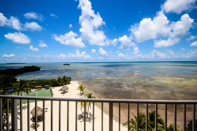 Sixth-floor oceanfront condo w/sweeping ocean views & shared pool, vacation rental in Tavernier