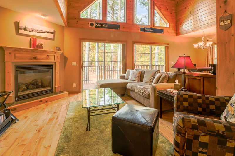 Secluded chalet w/ upscale interior & jetted tub, close to Sunday River Resort!, vacation rental in Upton