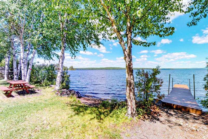 Dog-friendly, waterfront home w/ full kitchen & private dock, vacation rental in Jackman