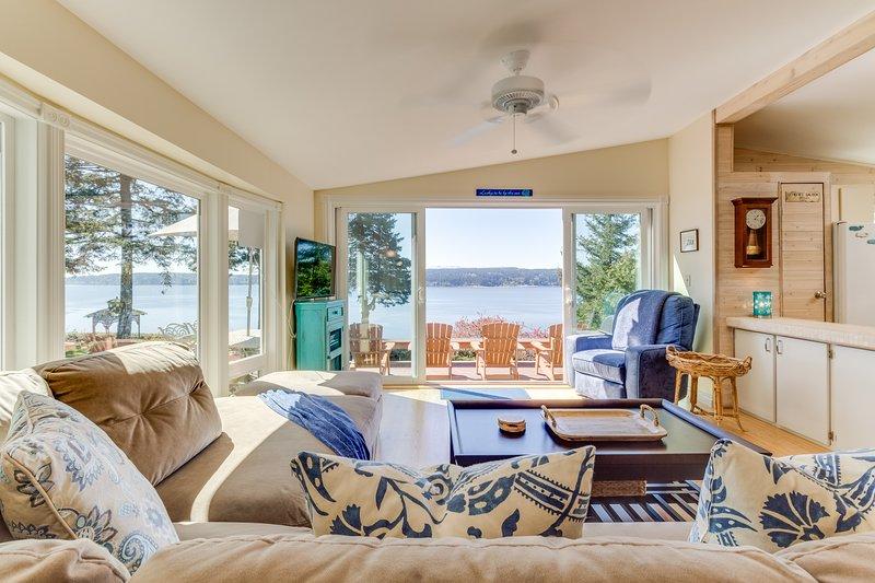 High-bank waterfront home w/ Puget Sound & wildlife views
