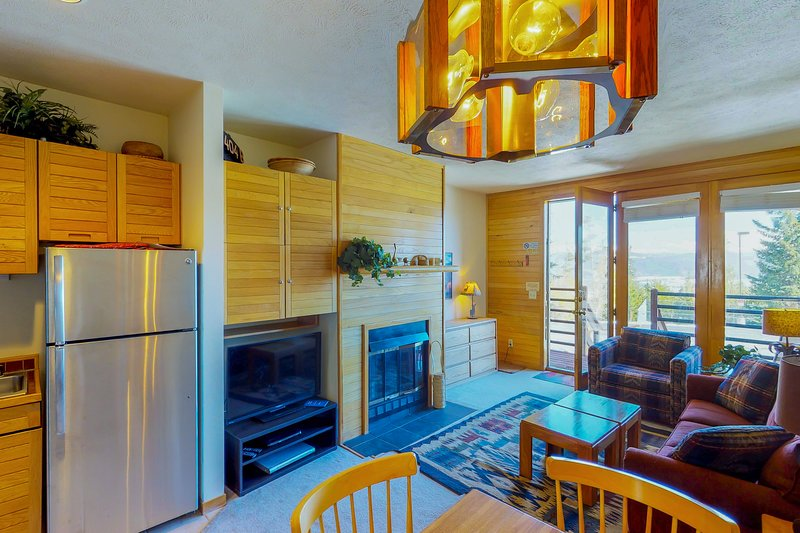 Comfy condo w/ gas fireplace, Internet, and sofabed - close to trails!, vacation rental in Wildernest