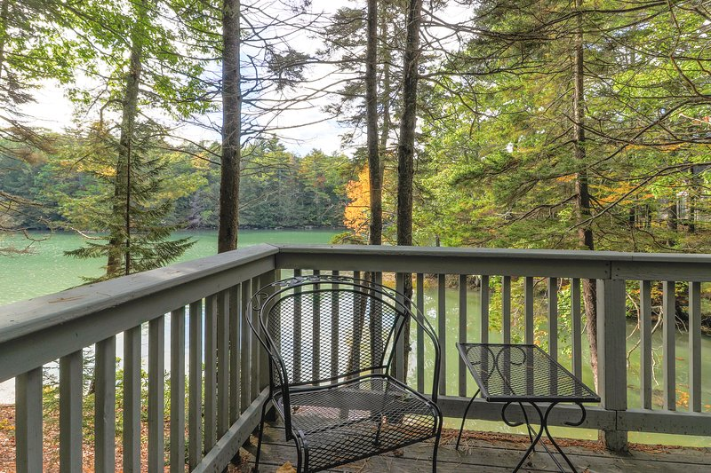 Geodesic dome w/ riverfront deck, lovely views & shared dock - dogs welcome!, holiday rental in Boothbay