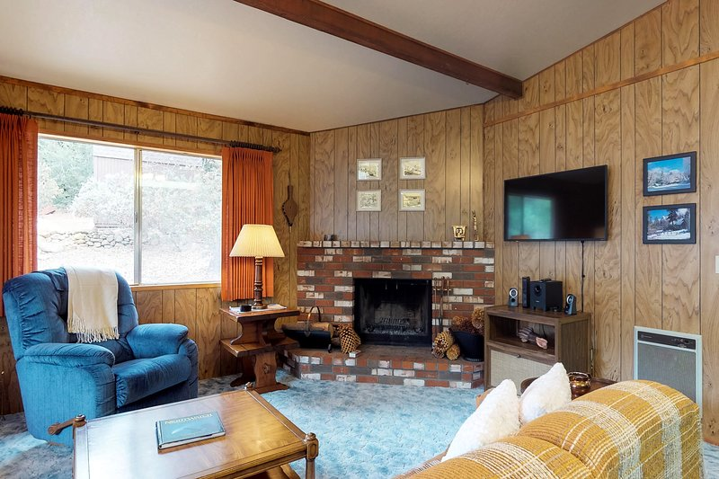 Dog-friendly chalet surrounded by towering trees and hiking adventures, holiday rental in Idyllwild