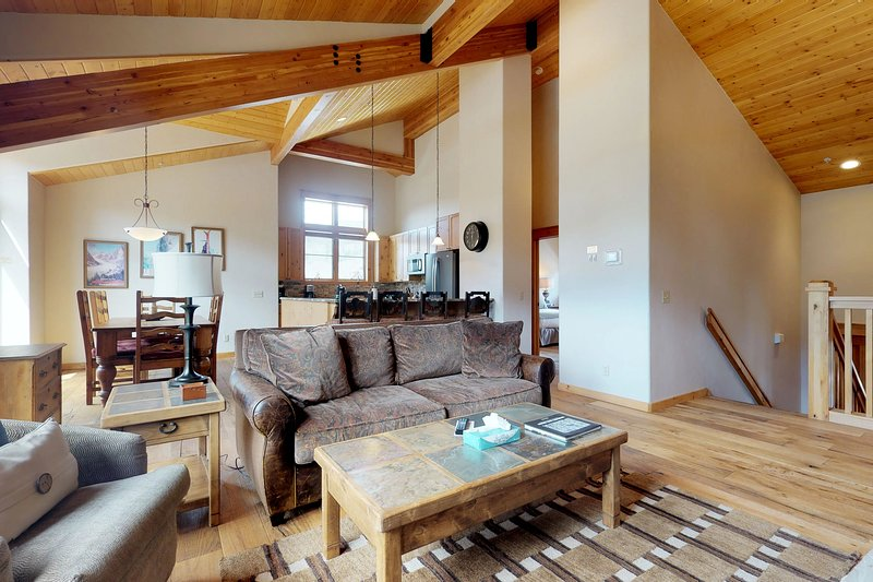 Spacious remodeled townhouse with private hot tub, nearby ski shuttle, location de vacances à Keystone