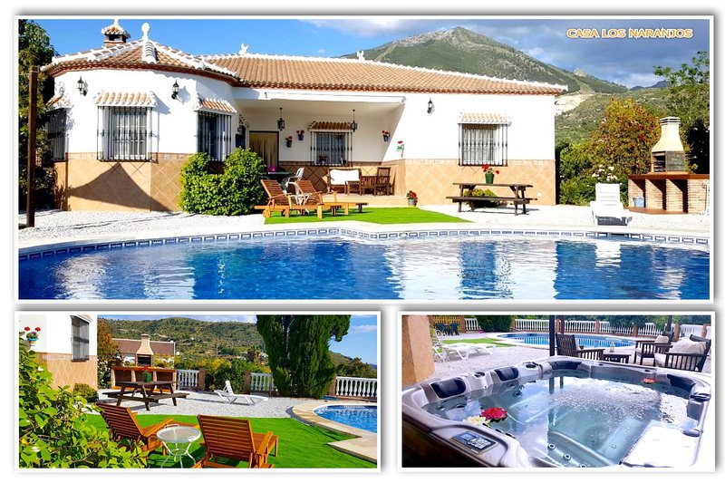 RURAL HOUSE IN MALAGA WITH POOL AND HOT WATER JACUZZI 20 km OF THE BEACH, location de vacances à Santa Cruz del Comercio
