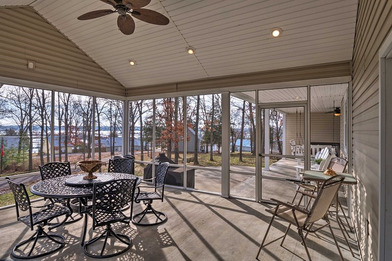 The property is situated across from their private dock on Kentucky Lake.