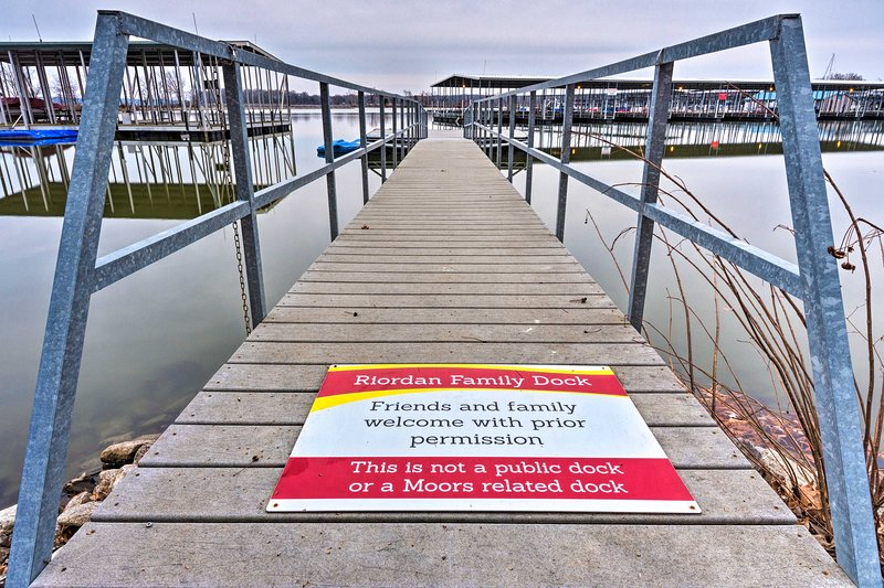 You're welcome to use the family's private dock!