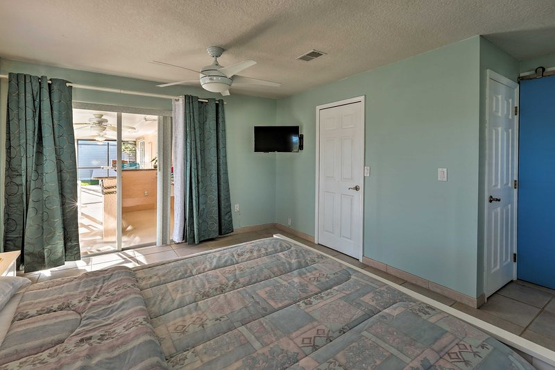 Step out to the patio directly from your bedroom!
