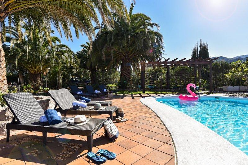 Finca Madroñal with Pool in Gran Canaria, holiday rental in Pino Santo Alto