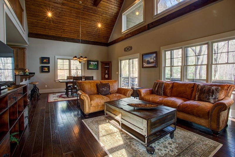 Natural light pours in through the windows