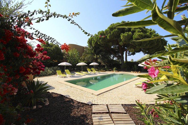 Mooie tuin en zwembad