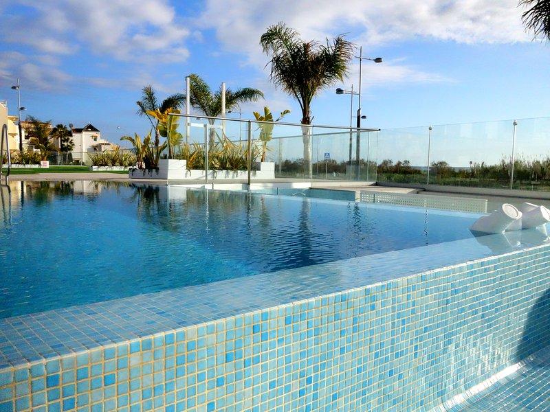 La zona de la piscina
