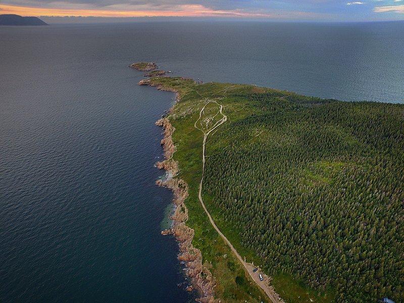 Arial av White Point Cape Breton Highlands