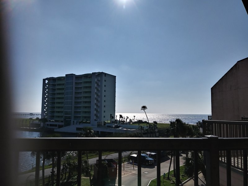 View from balcony to Gulf.