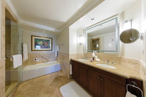 Master Bath with each bedroom