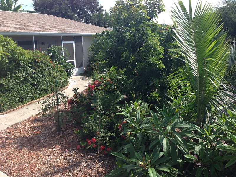Tropical Fruit Garden,Heated Pool,Hot tub. about 5 minute drive to the beaches., holiday rental in Seminole