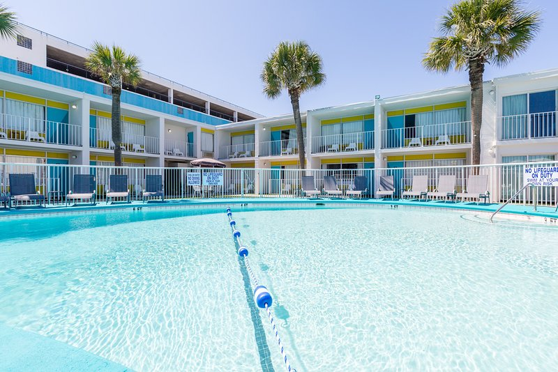 Spend time with family and friends in the outdoor pool.