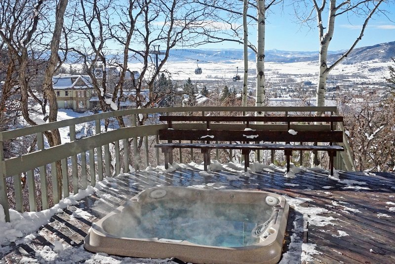 Private Hot Tub with views of the Gondola