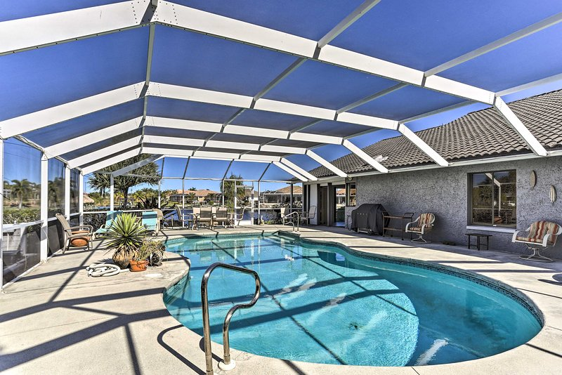 Book a trip to this lavish Cape Coral home for 8.