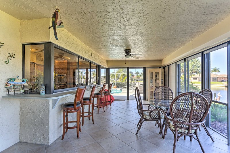 This 3-bedroom, 3-bathroom vacation rental house has it all!
