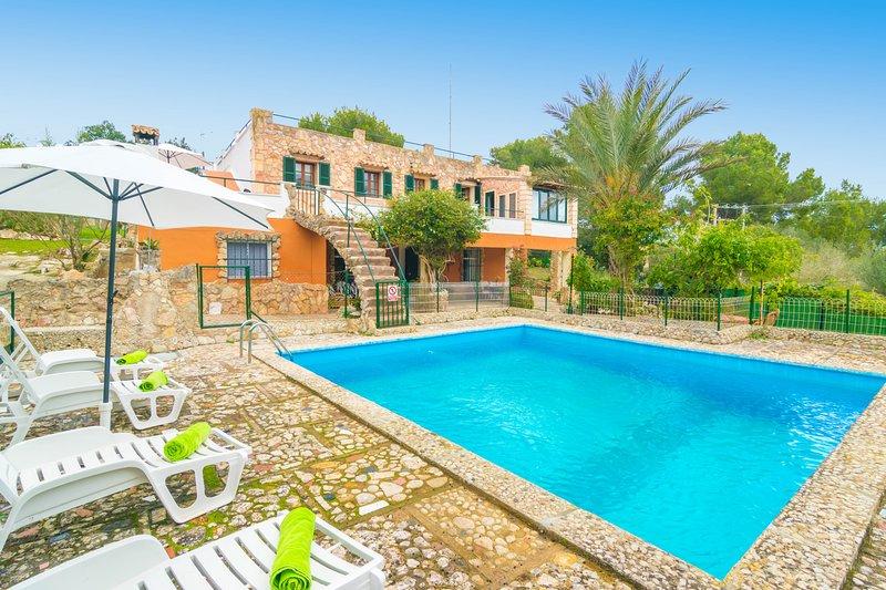 ES COLLET - CASA LUZ DEL SOL - Villa for 8 people in Son Servera, location de vacances à Son Servera