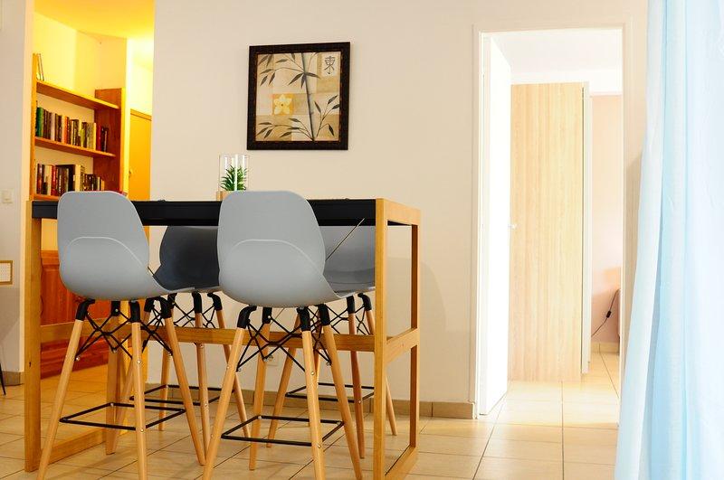 Bel appartement cosy avec spa à 5 min à pied de la plage de st Pierre, location de vacances à Mont-Vert les Bas