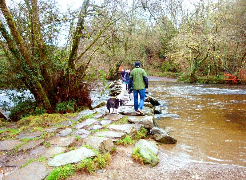 Tarr Steps aincient clapper bridge, River Barle, Exmoor