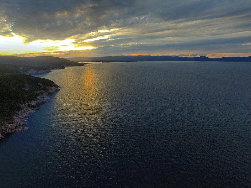 solnedgång över South Harbour Cape Breton Island