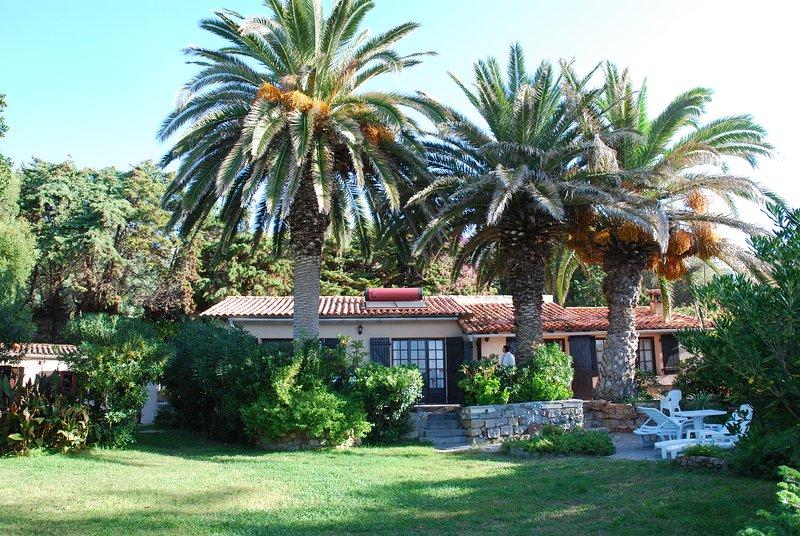 Main villa and maisonette on the left