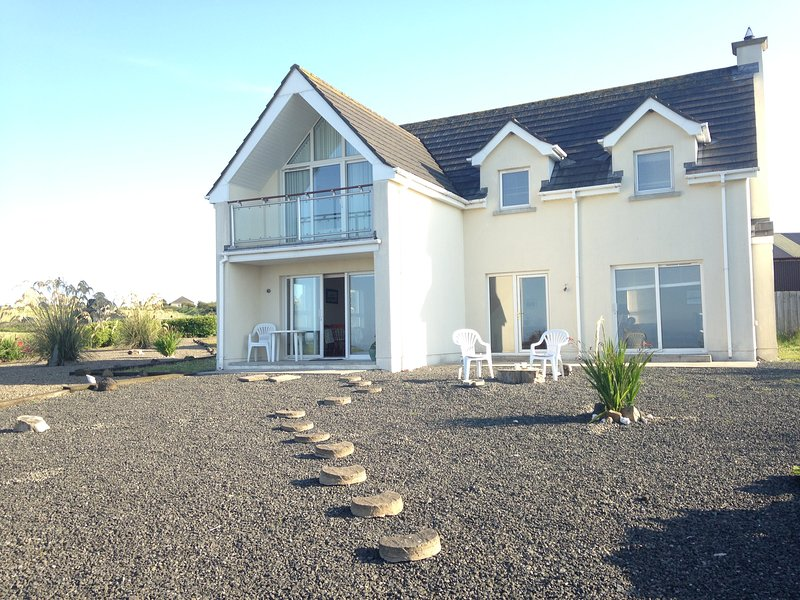 Our beautiful holiday home with stunning views to Antrim Coast and Scotland.