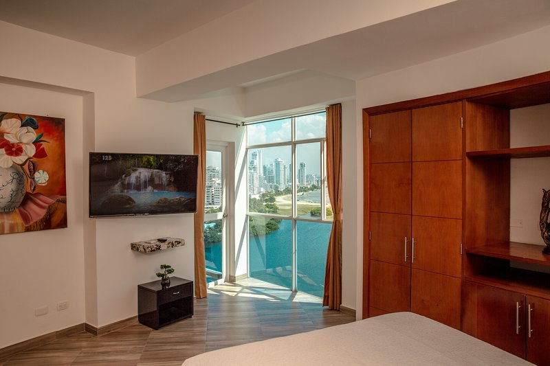 lake view from main room