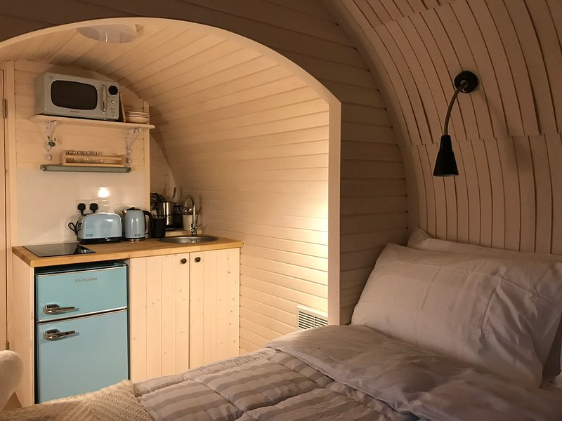 kitchen from the bed