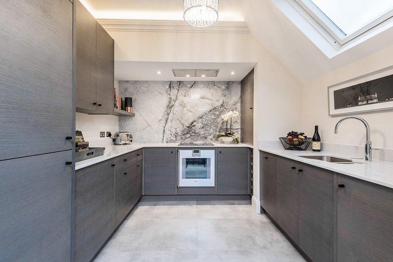 Modern, stylish, open plan kitchen