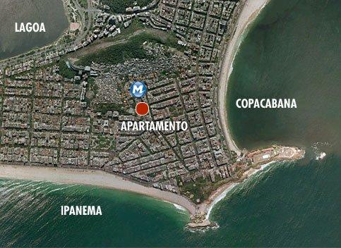 ubicación del apartamento, cerca de las playas de ipanema y copacabana y el metro está a tiro de piedra
