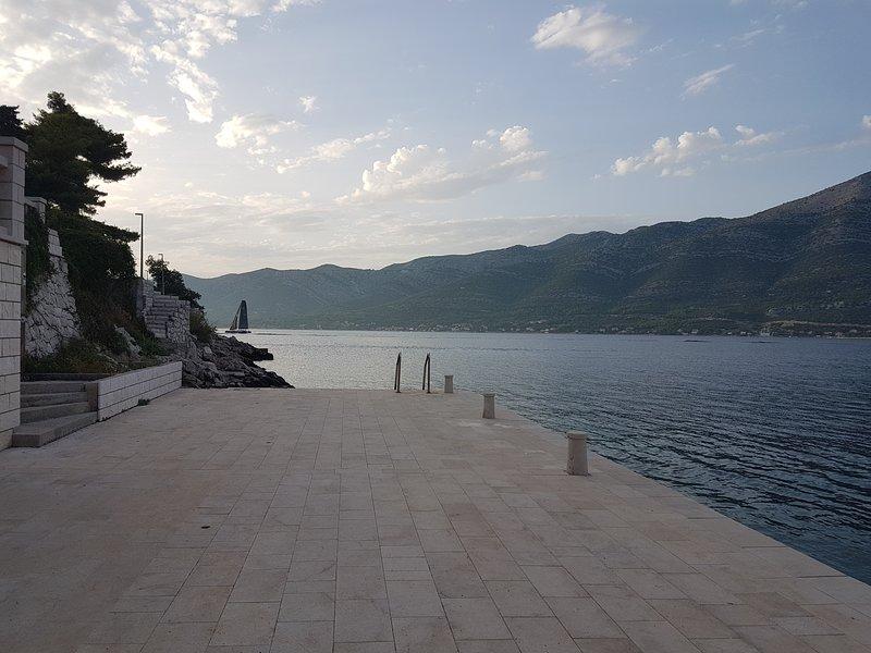 Medvinjak beach with bathing dock