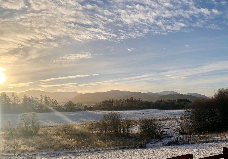 Mattina invernale vista da Calluna Cottage