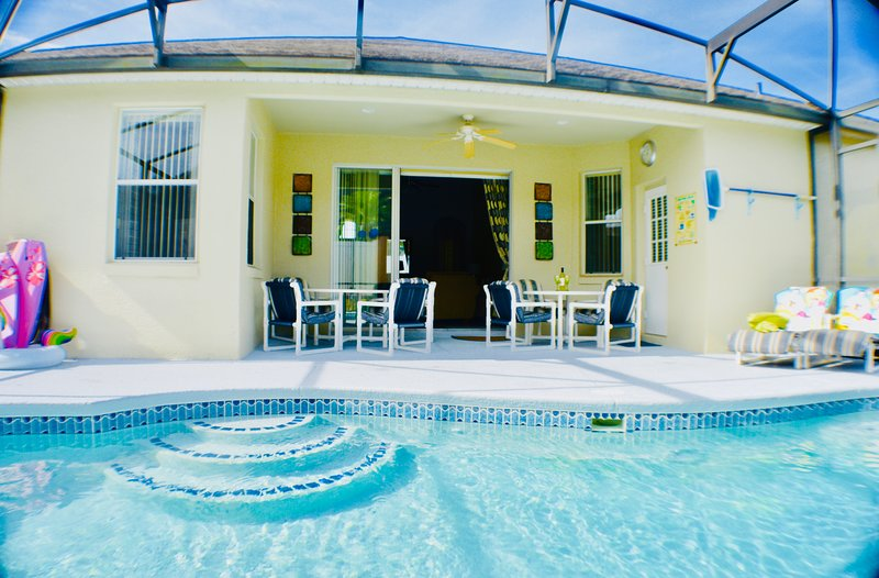 Pool & Deck area - good sunshine most of the day with shaded recess for dining  Image 2019