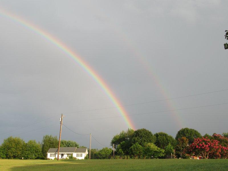 Doble arcoiris despues de la lluvia 2018.