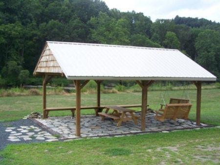 Community Riverfront Covered Shelter