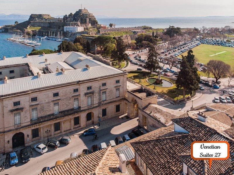 Cielo Suite - Venetian Suites 27, aluguéis de temporada em Corfu Town